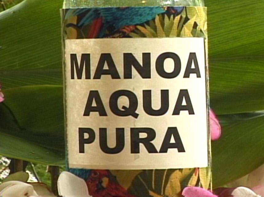 Manoa Aqua Pura handmade lable for video