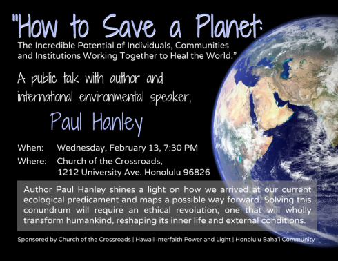 How to save the Planet?
