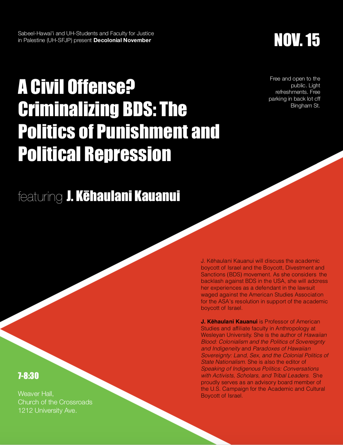 11/15 A Civil Offense? Criminalizing BOS: The Politics of Punishment and Political Repression