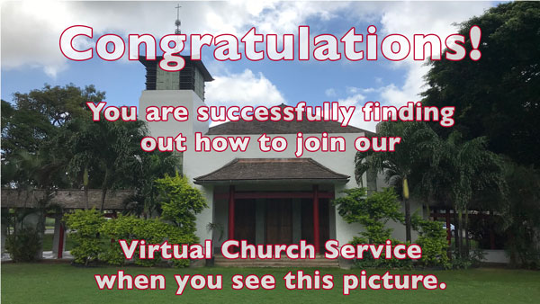 How to Attend Our Virtual Sunday Worship Service